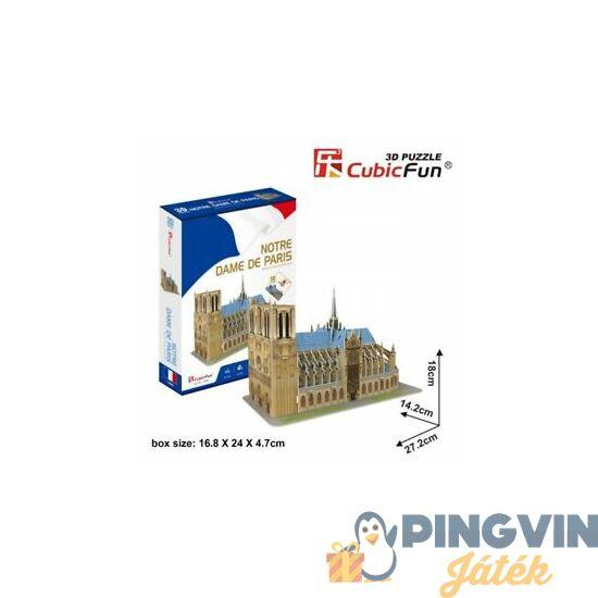 CubicFun - 3D puzzle, Notre Dame Párizs 53db-os