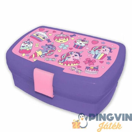 Cupcake lila uzsonnás doboz 18x12x7cm - Kids Euroswan