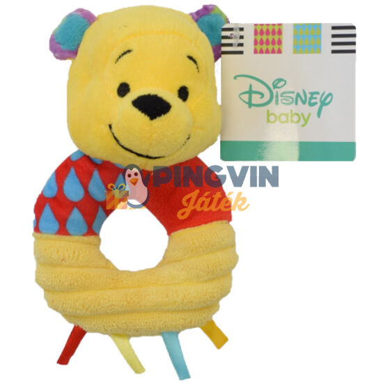 Disney Micimackó plüss csörgő 15 cm