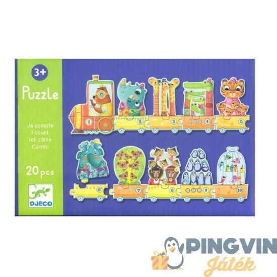 Djeco - I count számos, vonatos puzzle 20db 8150
