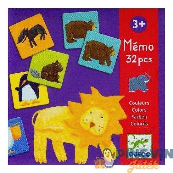 Djeco - Memóriajáték - Színes állatok Társasjéték (DJ08110)