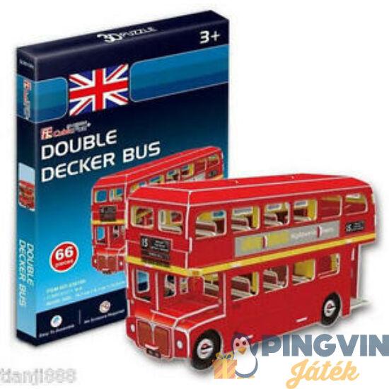 3D puzzle: Emeletes angol busz (Double Decker) 66 db-os - Cubicfun