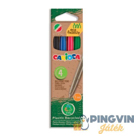 Carioca - Eco Family 4db-os színes golyóstoll szett (43102C)