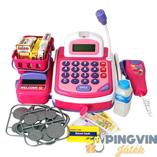 Elektronikus pénztárgép rózsaszín - Unikatoy