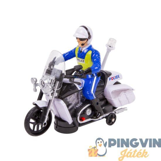 Elemes rendőr motorkerékpár