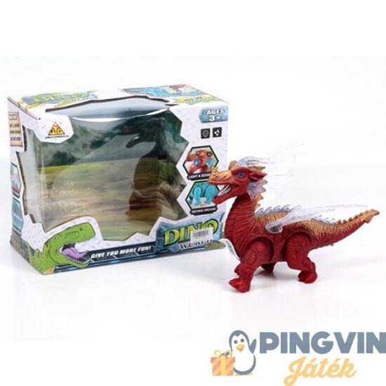 Elemes sárkány figura fénnyel 25cm - MK Toys