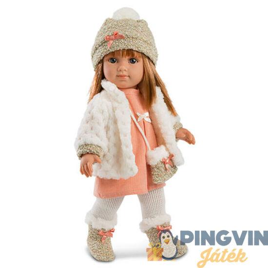Elena 35cm-es baba fehér kardigánnal - Llorens