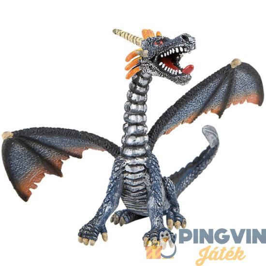 Bullyland: Ezüst ülő sárkány játékfigura