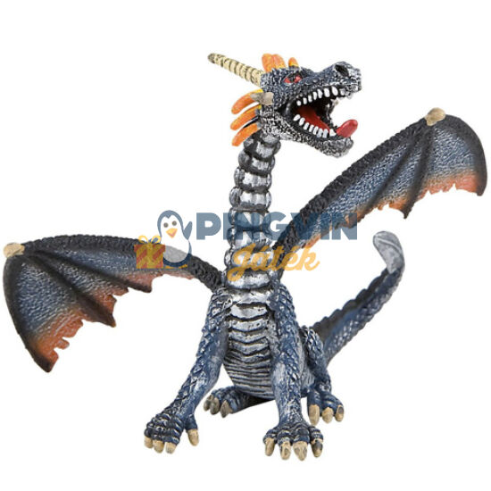 Bullyland - Ezüst ülő sárkány játékfigura (75594)