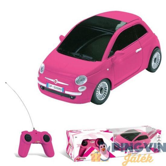 Fiat 500 Pink távirányítós autó 1/24 - Mondo Motors