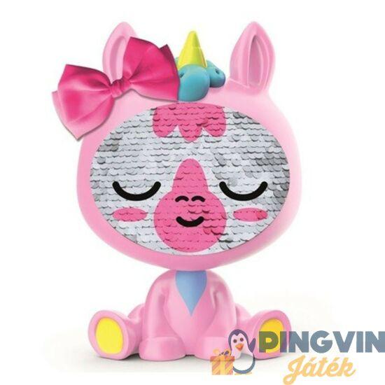 Flitteres egyszarvú rózsaszín baba 15 cm-es - IMC Toys