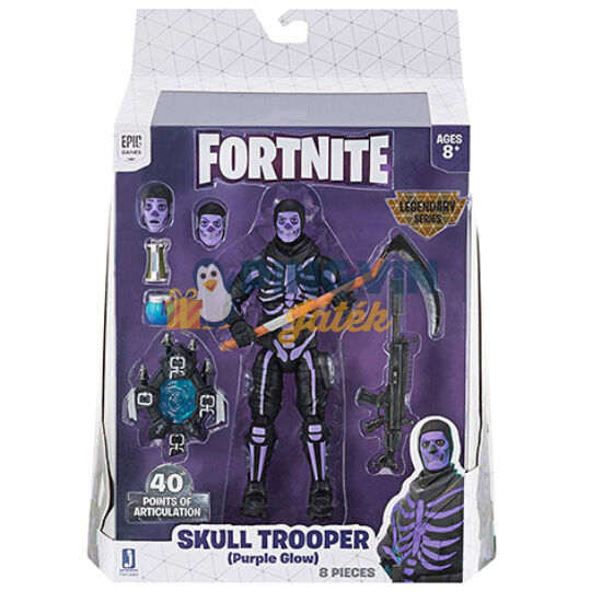 Fortnite - Legendary Series: Skull Trooper akció figura 15cm-es