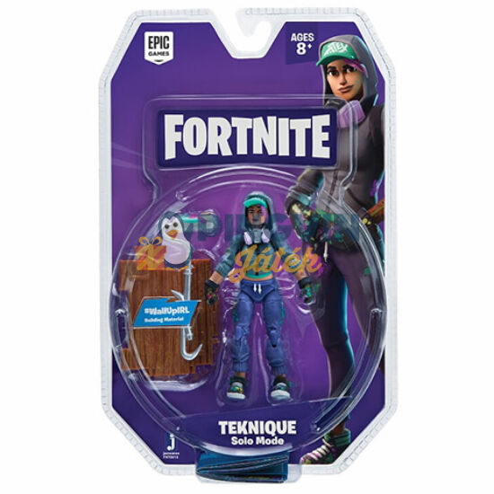 Flair Toys - Fortnite: Teknique 10cm-es karakter figura 1db építő panellel (FNT0015)