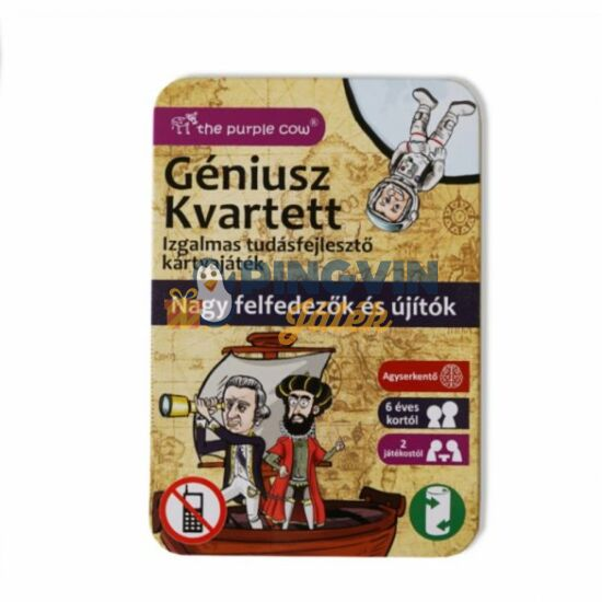 Géniusz Kvartett-Úttörők és felfedezők kártyajáték