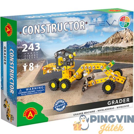 Grader földgyalu fém építőjáték 243db-os - Alexander Toys