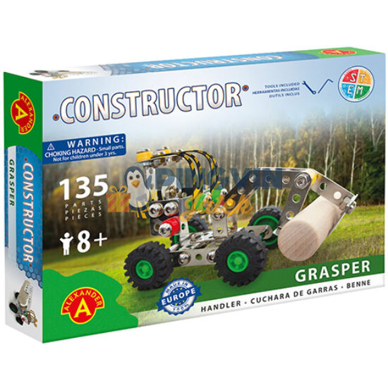 Grasper munkagép fém építőjáték 135db-os - Alexander Toys