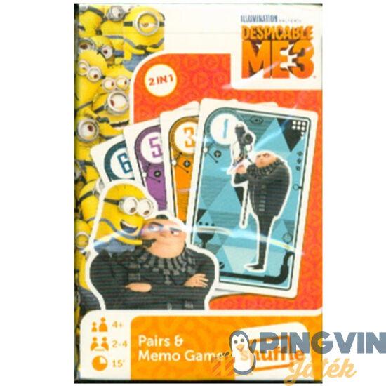 Gru 3 Fekete Péter és Memória kártya - Flair Toys