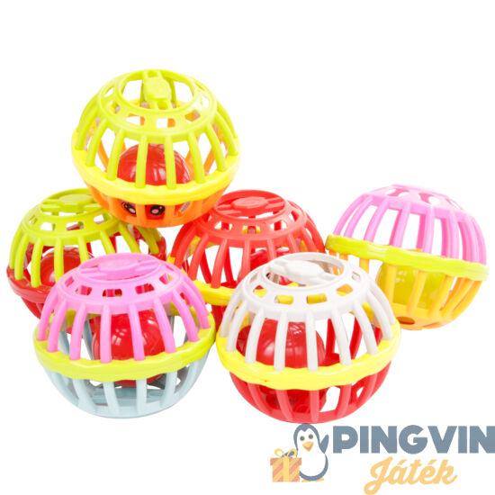 Gumi csörgő labda bébinek 8cm