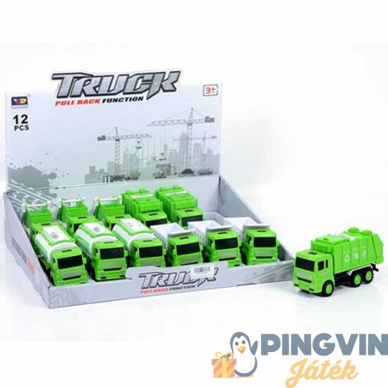 Magic Toys - Hátrahúzós hulladékszállító jármű 4 változatban (MKK206349)