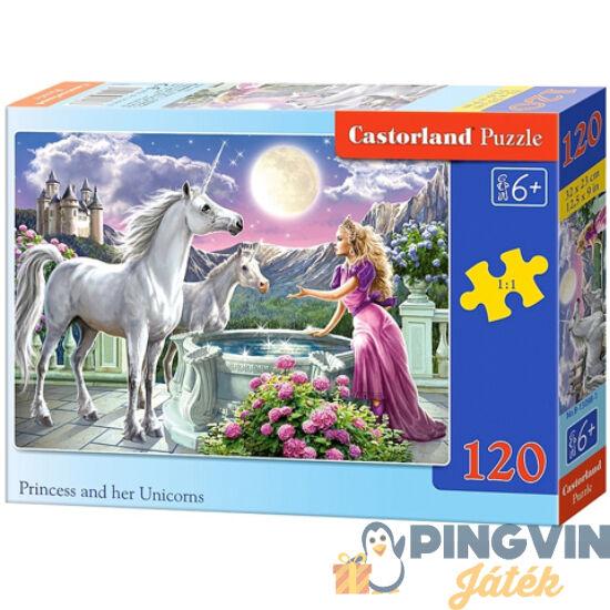 Hercegnő és unikornisai 120db-os puzzle - Castorland