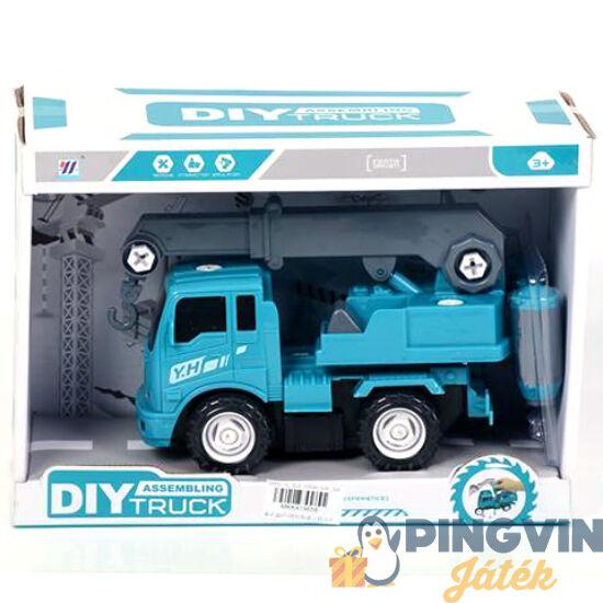 Kék szerelhető darus kocsi - MK Toys