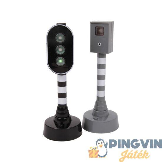 Közlekedési lámpa és traffipax készlet