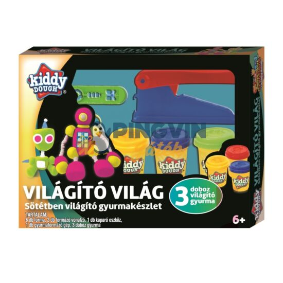 Creative Kids - Kiddy Dough Gyurmagyár, Sötétben Világító Gyurmakészlet