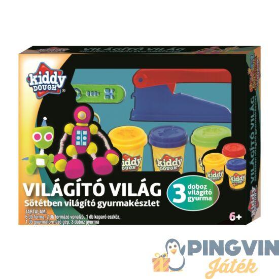 Creative Kids - Kiddy Dough Gyurmagyár, Sötétben Világító Gyurmakészlet (76732)