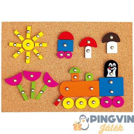 Kisvakond mozaiktábla fajáték 144 elemmel - Bino Toys
