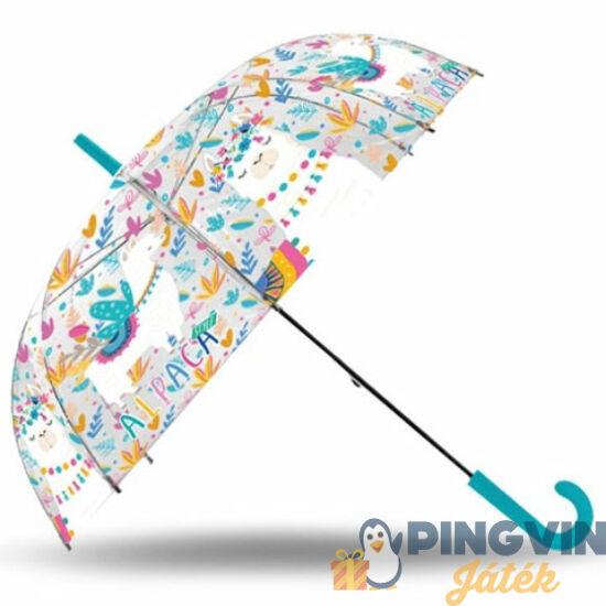 Láma átlátszó harang alakú manuális esernyő - Kids Euroswan