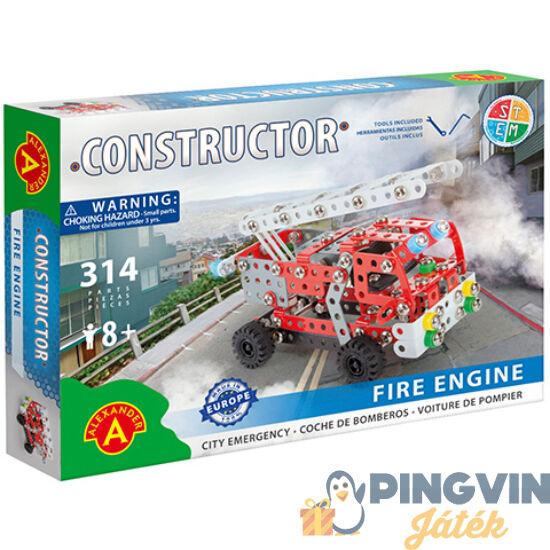 Létrás tűzoltóautó fém építőjáték 314db-os - Alexander Toys
