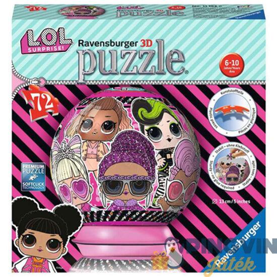 L.O.L. Surprise 72db-os 3D gömbpuzzle - Ravensburger