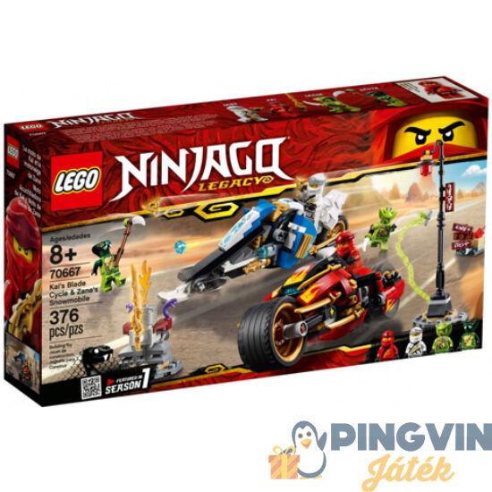 LEGO® Ninjago™: Kai Pengés Motorja és Zane motoros szánja 70667