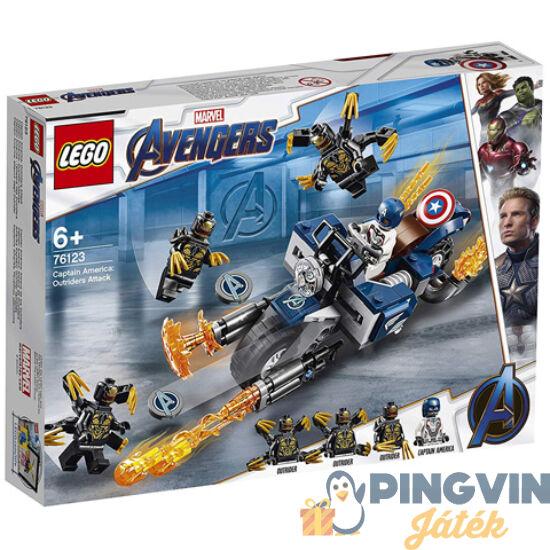 LEGO® Sper Heroes - Bosszuállók: Amerika kapitány Outrider támadás 76123