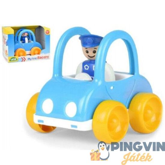 Lena - Első verseny rendőrautóm figurával kék színben (01574)