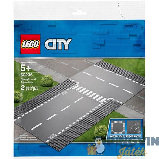 Lego® City Egyenes útszakasz és T-elágazás 60236