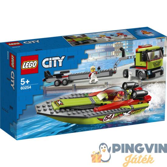Lego City Great Vehicles Versenycsónak szállító 60254