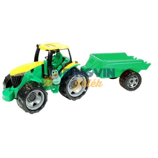 Lena - Óriás traktor utánfutóval - zöld, 94 cm