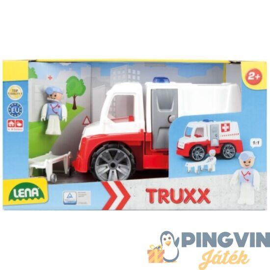 Lena - Műanyag mentő teherautó - 28 cm