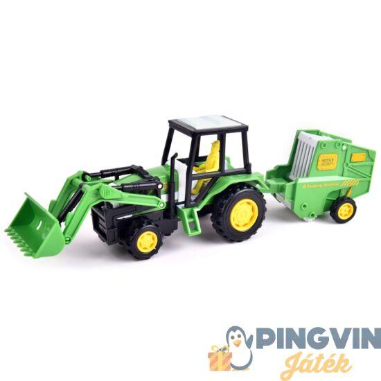 Lendkerekes traktor arató utánfutóval - 30 cm