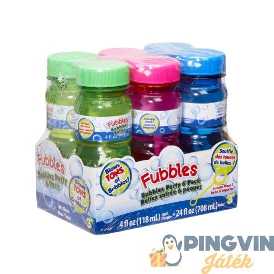 Fubbles - Little Kids: Party Buborékfújó Készlet 6X118 Ml (99107N)