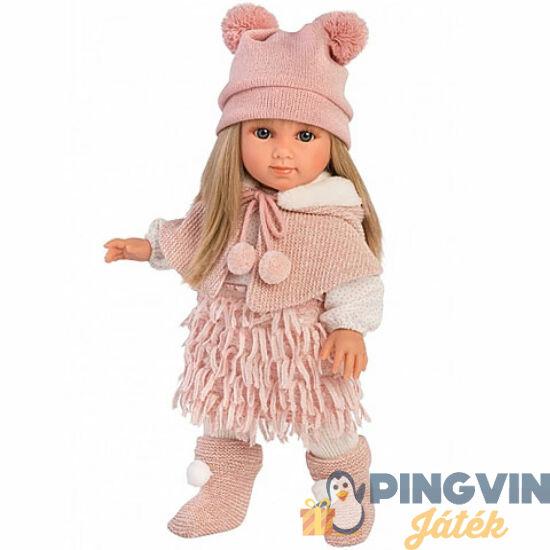 Llorens: Elena 35cm-es baba rózsaszín ruhában