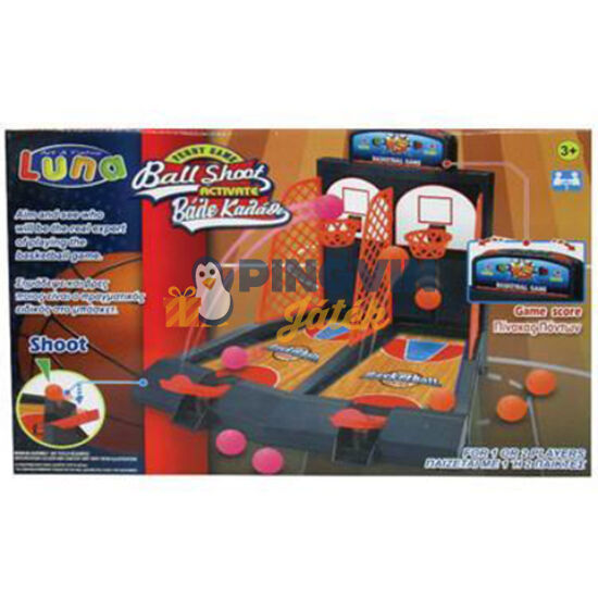 Luna - Asztali kétszemélyes verseny kosárlabda ügyességi játékszett 41x28cm