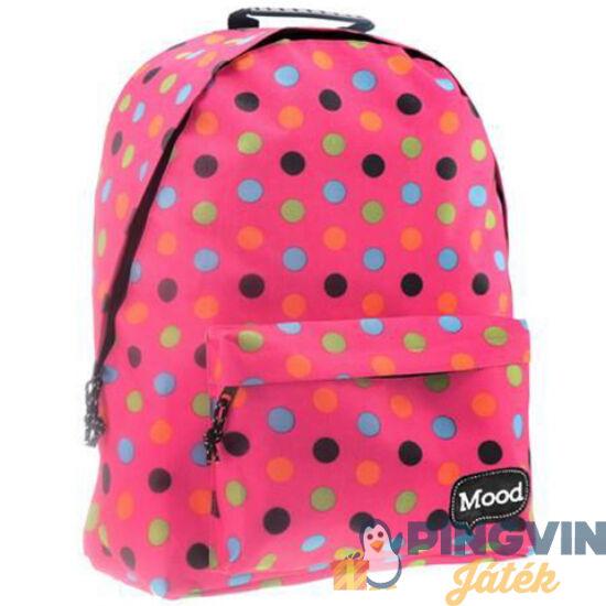 Luna - Mood Pink pöttyös Sigma iskolatáska, hátizsák 30x15x40cm