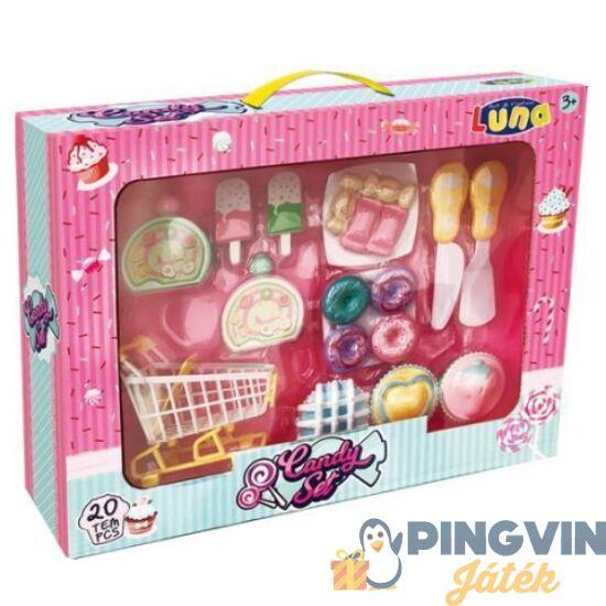 Luna - Nagy süteményes játékszett bevásárlókocsival (000621135)