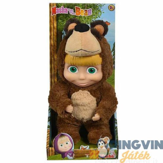Mása és a Medve: Mása baba maciruhában 25cm - Simba Toys