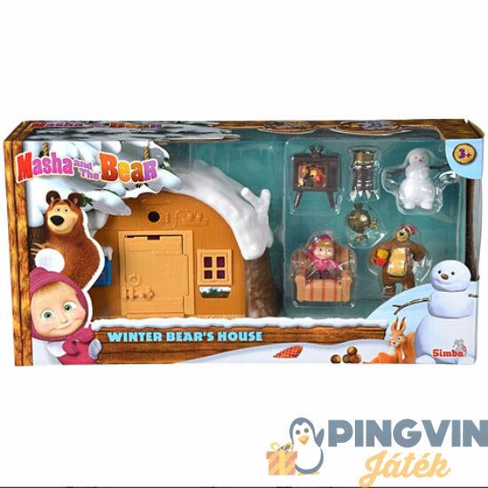 Mása és a Medve: Téli Medvelak játékszett - Simba Toys