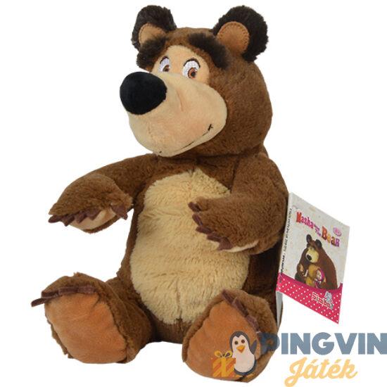 Mása és a medve: Ülő Medve 20cm-es babzsák plüss - Simba Toys