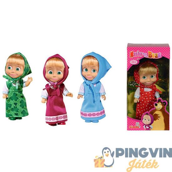 Mása és a medve: Mása baba színes ruhában - Simba Toys