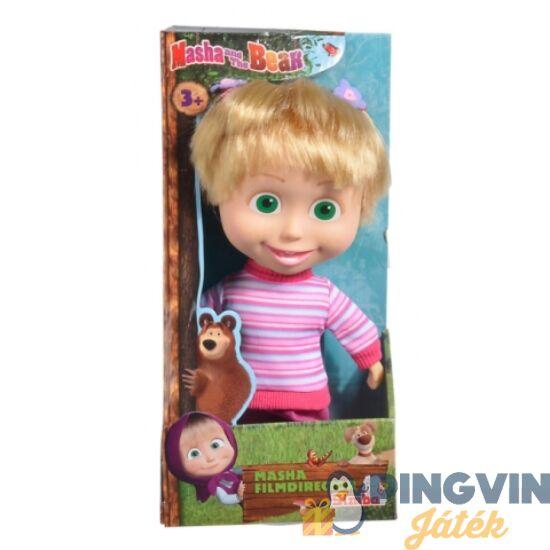 Mása és a medve: Mása puha baba filmrendező ruhában 23cm - Simba Toys